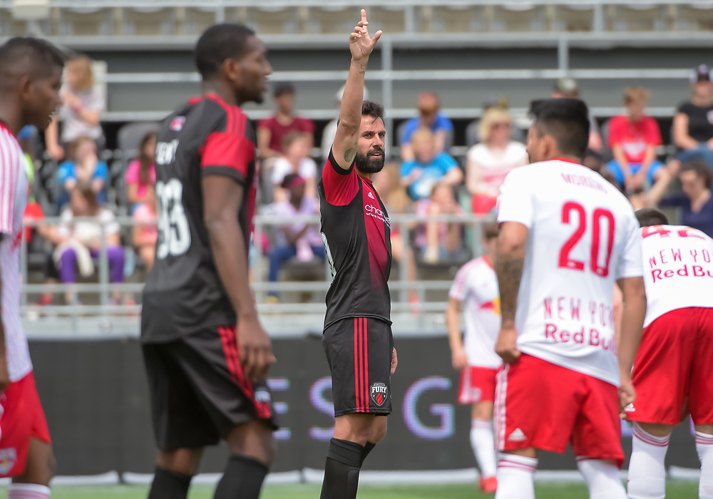 OTTAWA, ON - MAY 02: USL match between the Ottawa Fury FC and New York Red Bulls II at TD Place Stadium in Ottawa, ON. Canada on May 2, 2018.<br /> <br /> PHOTO: Steve Kingsman/Freestyle Photography/Ottawa Fury FC