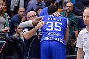 DESCRIZIONE : Beko Legabasket Serie A 2015- 2016 Dinamo Banco di Sardegna Sassari - Enel Brindisi<br /> GIOCATORE : Kenneth Kadji Matteo Boccolini<br /> CATEGORIA : Fair Play Postgame<br /> SQUADRA : Dinamo Banco di Sardegna Sassari<br /> EVENTO : Beko Legabasket Serie A 2015-2016<br /> GARA : Dinamo Banco di Sardegna Sassari - Enel Brindisi<br /> DATA : 18/10/2015<br /> SPORT : Pallacanestro <br /> AUTORE : Agenzia Ciamillo-Castoria/L.Canu