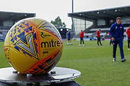 Ladbrokes Sponsored Mitre matchball in position ahead of the Ladbrokes Scottish Premiership match between St Mirren and Hamilton Academical FC at the The Simple Digital Arena, St Mirren, Scotland on 13 May 2019.
