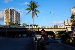 April 13, 2018 - Quezon City, Manila, Philippines - Children hang out near a creek in Quezon City, north of Manila on Friday, 13 April 2018. Students enjoy their school break as the summer season arrives. (Credit Image: © George Calvelo/NurPhoto via ZUMA Press)
