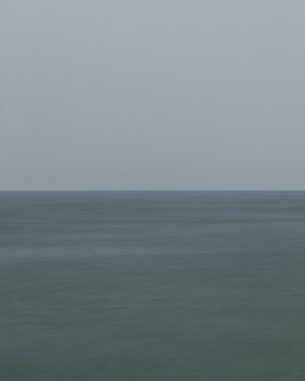 The flat horizon seen looking out from the shores of Nantucket.