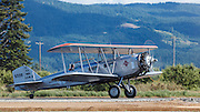 Boeing Model 40 on takeoff roll at WAAAM.