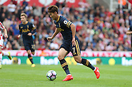 Son Heung-Min of Tottenham Hotspur in action. Premier league match, Stoke City v Tottenham Hotspur at the Bet365 Stadium in Stoke on Trent, Staffs on Saturday 10th September 2016.<br /> pic by Chris Stading, Andrew Orchard sports photography.
