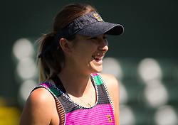 March 15, 2019 - Indian Wells, USA - Belinda Bencic of Switzerland during practice ahead of the semi-final of the 2019 BNP Paribas Open WTA Premier Mandatory tennis tournament (Credit Image: © AFP7 via ZUMA Wire)