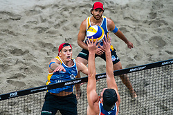 Esteban Grimalt CHL, Marco Grimalt CHL in action during the third day of the beach volleyball event King of the Court at Jaarbeursplein on September 11, 2020 in Utrecht.
