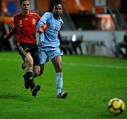 17-11-2009 VOETBAL: JONG ORANJE - JONG SPANJE: ROTTERDAM<br /> Nederland wint met 2-1 van Spanje / Jashua John<br /> ©2009-WWW.FOTOHOOGENDOORN.NL