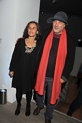 RON & ALMA ARAD at Arts for Human Rights gala dinner in aid of The Bianca Jagger Human Rights Foundation in association with Swarovski held at Phillips de Pury & Company, Howick Place, London on 13th October 2011.
