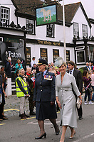 Headley Court Defence Medical Rehabilitation Centre - Farewell Parade, Dorking High Street<br /> <br /> The Countess of Wessex after taking the salute as the armed forces, veterans, cadets and other personnel from Headley Court pass through Dorking's High Street, at The White Horse public house.<br /> <br /> COLORSPORT/ANDREW COWIE