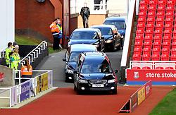 Gordon Banks funeral cortege arrives at the bet365 Stadium, Stoke.