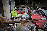 Interior of an aparment in Press Park, a low income housing uinit in New Orleans left in ruin since Hurrican Katrina.