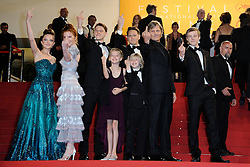 Viggo Mortensen, Matt Ross, Annalise Basso, Samantha Isler, Nicholas Hamilton, Shree Crooks and Charlie Shotwell attending the 'Personal Shopper' screening at the Palais Des Festivals in Cannes, France on May 17, 2016, as part of the 69th Cannes Film Festival. Photo by Aurore Marechal/ABACAPRESS.COM