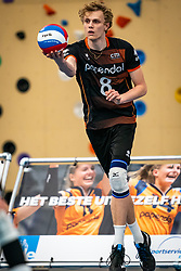 Yannick Bak of Talent team in action during the first league match in the corona lockdown between Talentteam Papendal vs. Vocasa on January 13, 2021 in Ede.