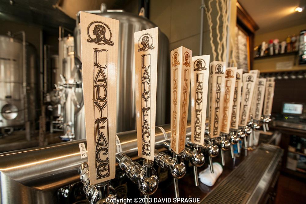 at LadyFace Ale Companie in Agoura Hills, CA. Shot Feb. 5th,  2013 Photo by David Sprague ©2013