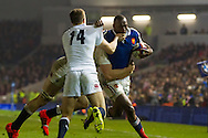 Sekou Macalou during the 2015 Under 20s 6 Nations match between England and France at the American Express Community Stadium, Brighton and Hove, England on 20 March 2015.