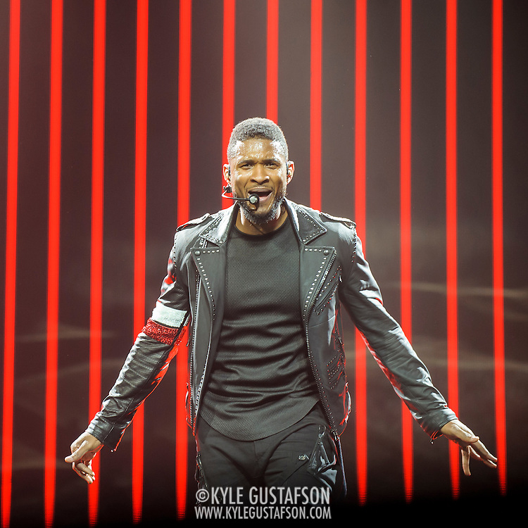 WASHINGTON, DC - November 10th, 2014 - Usher performs at the Verizon Center in Washington, D.C. as part of his UR Experience Tour. The tour is named after his oft-delayed  upcoming album, UR.  (Photo by Kyle Gustafson / For The Washington Post)