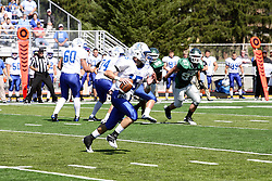 17 September 2011: Noah Martin during an NCAA Division 3 football game between the Aurora Spartans and the Illinois Wesleyan Titans on Wilder Field inside Tucci Stadium in.Bloomington Illinois.