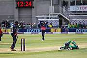 Niall O'Brien of Ireland scrambles back to his crease during the One Day International match between England and Ireland at the Brightside County Ground, Bristol, United Kingdom on 5 May 2017. Photo by Andrew Lewis.