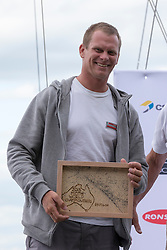 Prize giving ceremony of the McDougall + McConaghy 2015 Moth Worlds, Sailing Anarchy and Sperry Top-Sider Moth Worlds coverage 2015, Sorrento, Australia. January 16th 2015. Photo © Sander van der Borch.