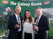 Des Roche Diageo Galway and Gemma Bell Sponsorship Manager Guinness Europe and  Michael Moloney Galway Race Course Manager at the launch of The Galway Races 2016 Summer Festival which runs from the 25th of July to the 31st of July in Galway City. Photo: Andrew Downes :