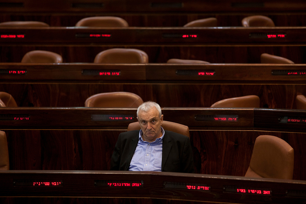 Israel's Public Security Minister, Yitzhak Aharonovitch attends a session of the Knesset, Israel's parliament in Jerusalem, on June 27, 2012.