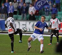 Fotball , 28. april 2012, Tippeligaen Eliteserien , Sogndal - Molde<br /> <br /> Foto: Christian Blom , Digitalsport Magnus Wolff Eikrem, Molde. Stephane Diarra Badji, Malick Mane, Sogndal.
