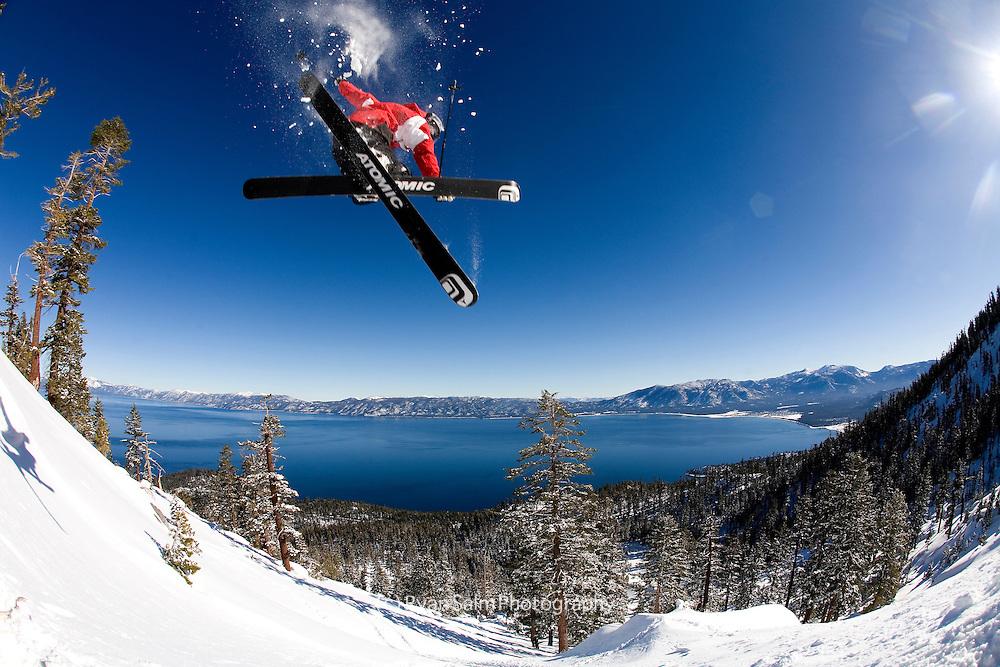 Miles Clark goes big over Lake Tahoe, Hidden Peak