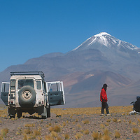 An expedition led by archaeologist Dr. Johan Reinhard hikes up the slopes of 22,110-foot Volcan Llullaillaco in northern Argentina, where he later found the world's highest mummies from an ancient Inca sacrifice.