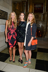 Left to right, LISA BUTCHER, AMBER DONOSO and JODIE KIDD at the opening of Club To Catwalk: London Fashion In The 1980's an exhibition at The V&A Museum, London on 8th July 2013.