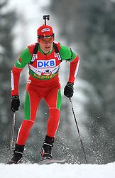 Sergey Novikov (BLR) at Men 20 km Individual at E.ON Ruhrgas IBU World Cup Biathlon in Hochfilzen (replacement Pokljuka), on December 18, 2008, in Hochfilzen, Austria. (Photo by Vid Ponikvar / Sportida)