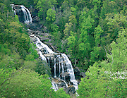 Whitewater Falls in springtime, North Carolina, USA