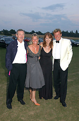 Left to right, NICK MASON, SALLY JOHNSON, NETTE MASON and BROOK JOHNSON at the Cowdray Gold Cup Golden Jubilee Ball held at Cowdray Park Polo Club, on 21st July 2006.<br />