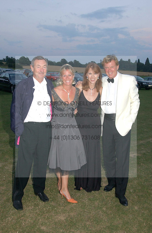 Left to right, NICK MASON, SALLY JOHNSON, NETTE MASON and BROOK JOHNSON at the Cowdray Gold Cup Golden Jubilee Ball held at Cowdray Park Polo Club, on 21st July 2006.<br /><br />NON EXCLUSIVE - WORLD RIGHTS