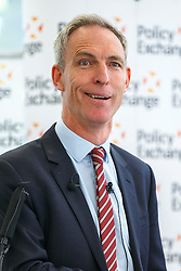 © Licensed to London News Pictures. 15/06/2015. London, UK. Former Scottish Labour leader JIM MURPHY delivers his final speech of his political career at Policy Exchange in central London on June 15, 2015. Photo credit: Tolga Akmen/LNP