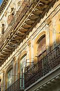 Low angle view, close up of balcony, Havana, Cuba