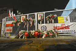 August 31, 2017 - Gdansk, Poland - Gdansk Shipyard Gate no.2 on the 37th anniversary of the Gdansk Agreement..On Thursday, August 31, 2017, in Gdansk, Poland. (Credit Image: © Artur Widak/NurPhoto via ZUMA Press)