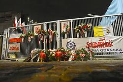 August 31, 2017 - Gdansk, Poland - Gdansk Shipyard Gate no.2 on the 37th anniversary of the Gdansk Agreement..On Thursday, August 31, 2017, in Gdansk, Poland. (Credit Image: © Artur Widak/NurPhoto via ZUMA Press)
