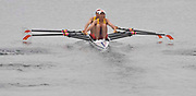 Shunyi, CHINA.  Heat of the women's LW2X,    Bow, Dongxiang XU and Hua YU, move away from the start, at the 2008 Olympic Regatta, Shunyi Rowing Course. Sunday 10.08.2008  [Mandatory Credit: Peter SPURRIER, Intersport Images]
