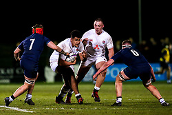 Rusi Tuima of England - Mandatory by-line: Robbie Stephenson/JMP - 07/02/2020 - RUGBY - Myreside - Edinburgh, Scotland - Scotland U20 v England U20 - Six Nations U20