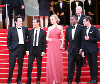 John Cusack, Matthew Mcconaughey, Nicole Kidman, Lee Daniels, Zac Efron on the red steps at The Paperboy gala screening red carpet at the 65th Cannes Film Festival France. Thursday 24th May 2012 in Cannes Film Festival, France.