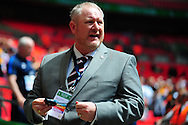 Peter Beadle, manager of Hereford FC during the FA Vase match between Hereford FC and Morpeth Town at Wembley Stadium, London, England on 22 May 2016. Photo by Mike Sheridan.