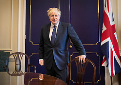 FILE IMAGE from 30th August 2019 © Licensed to London News Pictures. 30/08/2019. London, UK. In this file image Prime Minister Boris Johnson is seen in his office in 10 Downing Street. Photo credit: Peter Macdiarmid/LNP