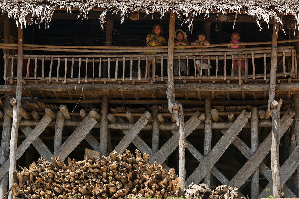 Adi Gallong children<br /> Adi Gallong Tribe<br /> Arunachal Pradesh<br /> North East India