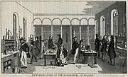 German chemist Justus von Liebig's (1803-1873) laboratory at University of Giessen.