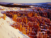 Bryce Amphitheater at sunrise from Inspiration Point, Bryce Canyon National Park, Utah.