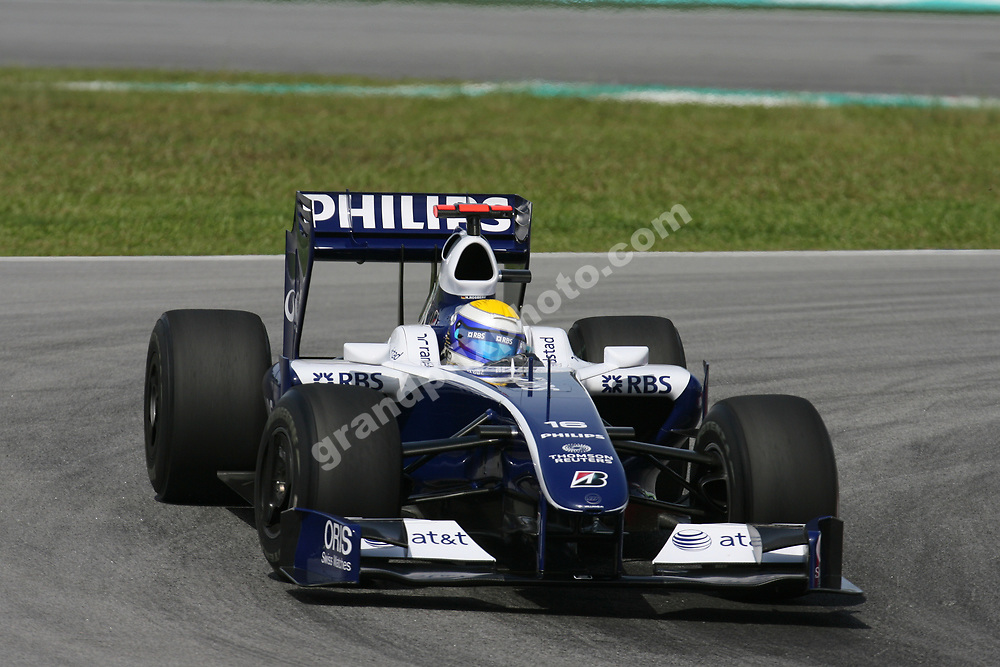 Nico Rosberg (Williams-Toyota) during practice for the 2009 Malaysian Grand Prix in Sepang outside Kuala Lumpur. Photo: Grand Prix Photo