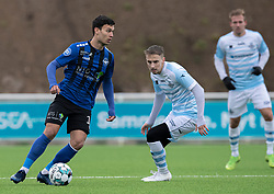 Liam Jordan (HB Køge) under træningskampen mellem FC Helsingør og HB Køge den 22. februar 2020 på Helsingør Ny Stadion (Foto: Claus Birch).
