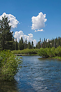 Middle Fork of the San Joaquin River, Devils Postpile National Monument, Inyo National Forest, Madera County, California, USA