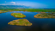 Elevated view of the Hula Valley, Galilee, Israel