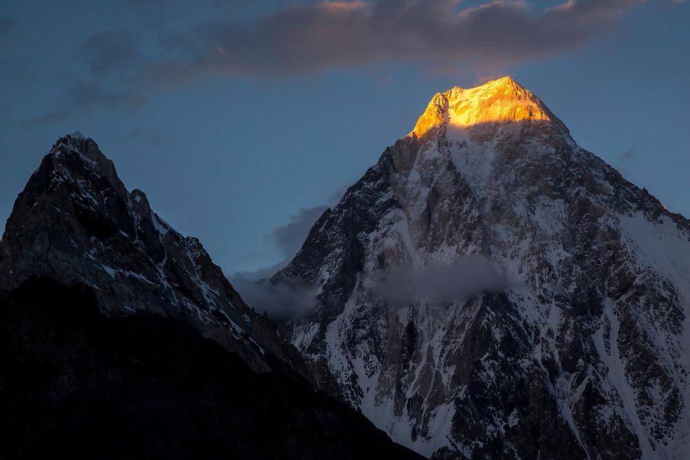 Alpenglow on Gasherbrum IV, Concordia, Pakistan
