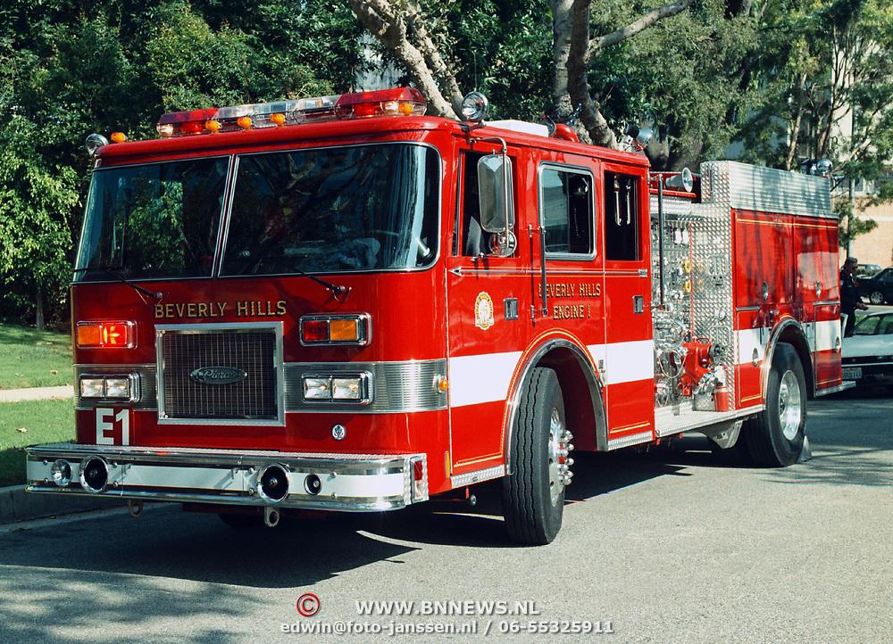 Reis Amerika, brandweerwagen beverly Hills Engine 1 Los Angeles
